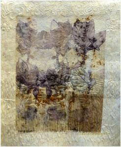 Baumwolle auf Quilt appliziert.